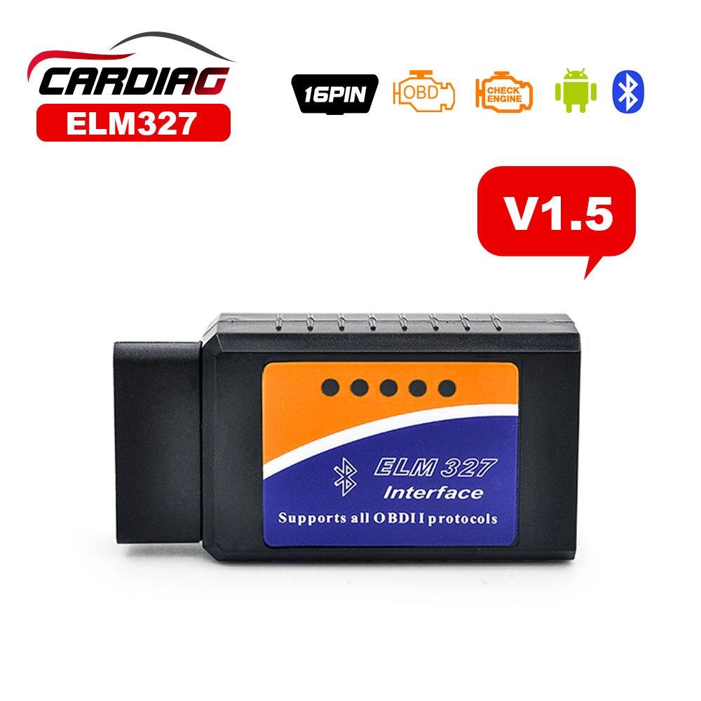 Prix pour ELM327 V1.5 Bluetooth/ELM327 Wifi en option PIC18F25K80 puce Soutient OBD II Protocoles ELM 327 OBDII OBD2 Outil De Diagnostic Scanner