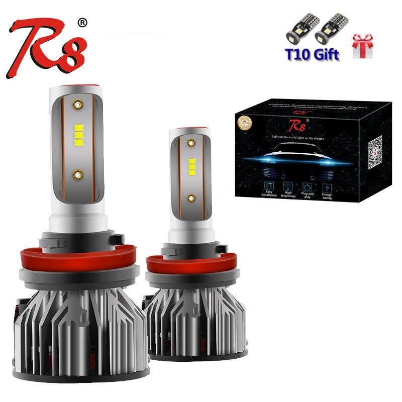 R8 2pcs H4 H7 LED H1 H3 H8 H11 H27 880 881 Car Restyle Bulbs Mini Headlight Lamp 5800LM 50W Automotive Headlamp 12V