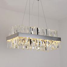 цены New modern restaurant chandelier chrome / gold rectangular crystal lamp living room decoration chandelier LED hotel lamp