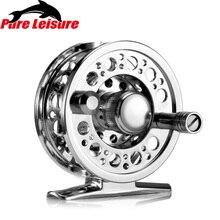 PureLeisure Mulinelli Da Pesca Mare Hand-Changed Aluminum alloy Fly Reel Fishing Reel 2+1BB 100M Line Capacity Pesca En Hielo