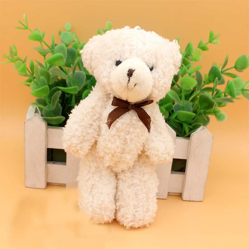 13 см хит продаж бабочка галстук плюшевая игрушка медведь на шарнирах мультяшный плюшевый мишка сумка кулон свадьба креативный маленький подарок «Медведь» игрушки WJ011