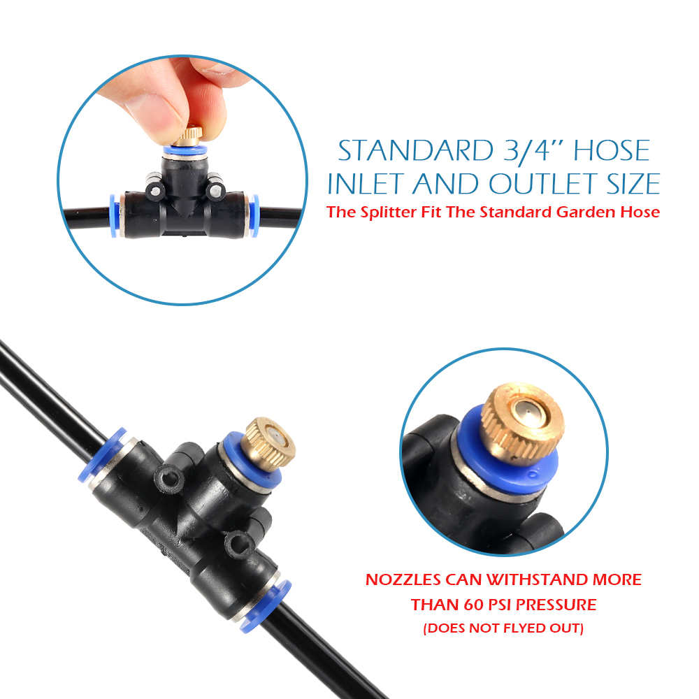HTB1PtzzTkzoK1RjSZFlq6yi4VXau - Water Misting Cooling System Kit summer Sprinkler brass Nozzle Outdoor Garden