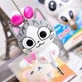 FFFAS Симпатичные Kawaii Сыр Cat медведь Панда Мультфильм Выдвижной MP3 MP4 наушники для Samsung HTC Xiaomi для IPhone 5 5s 6 6 s плюс