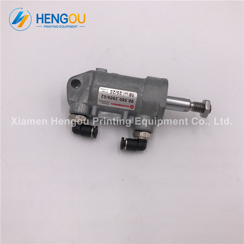 1 Piece 00.580.3909 Heidelberg SM52 SM74 SM102 machine Pneumatic cylinder D25 H25 Heidelberg cylinder imported m2 184 1011 01a m2 184 1011 heidelberg sm 74 pneumatic cylinder d63 h18 heidelberg original used part m4 335 007n