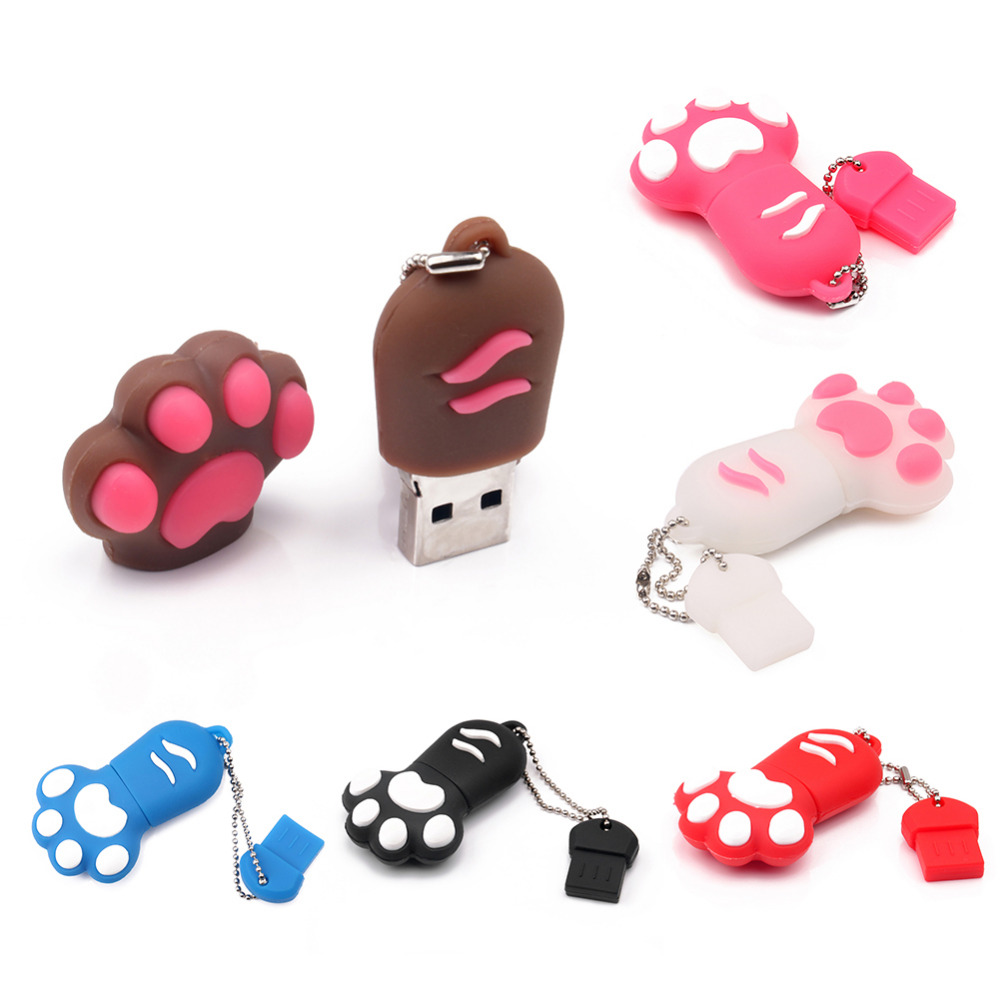 Kawaii Cat Claw Model PVC 16GB Pendrive High Speed USB 2.0 Flash Drive U Disk Memory Stick