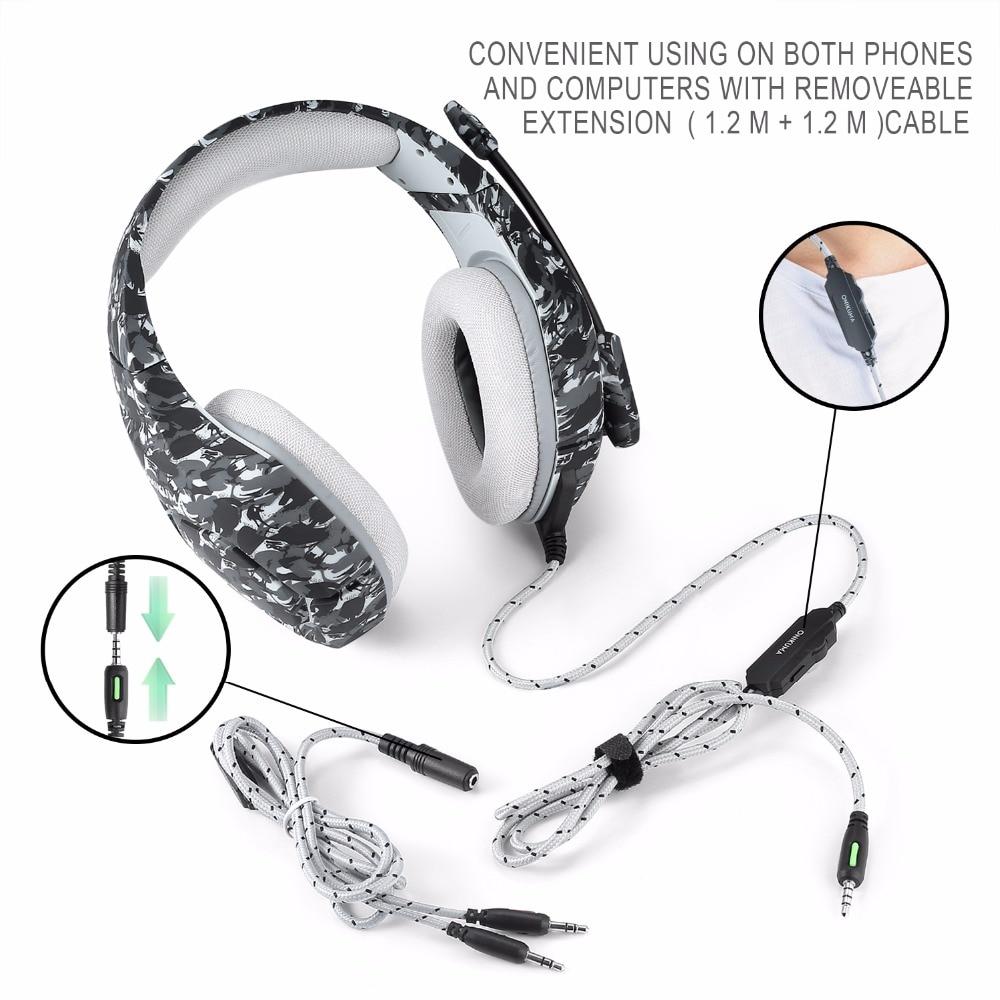 ONIKUMA K1 3.5mm žičane slušalice Stereo slušalice s mikrofonom - Prijenosni audio i video - Foto 6
