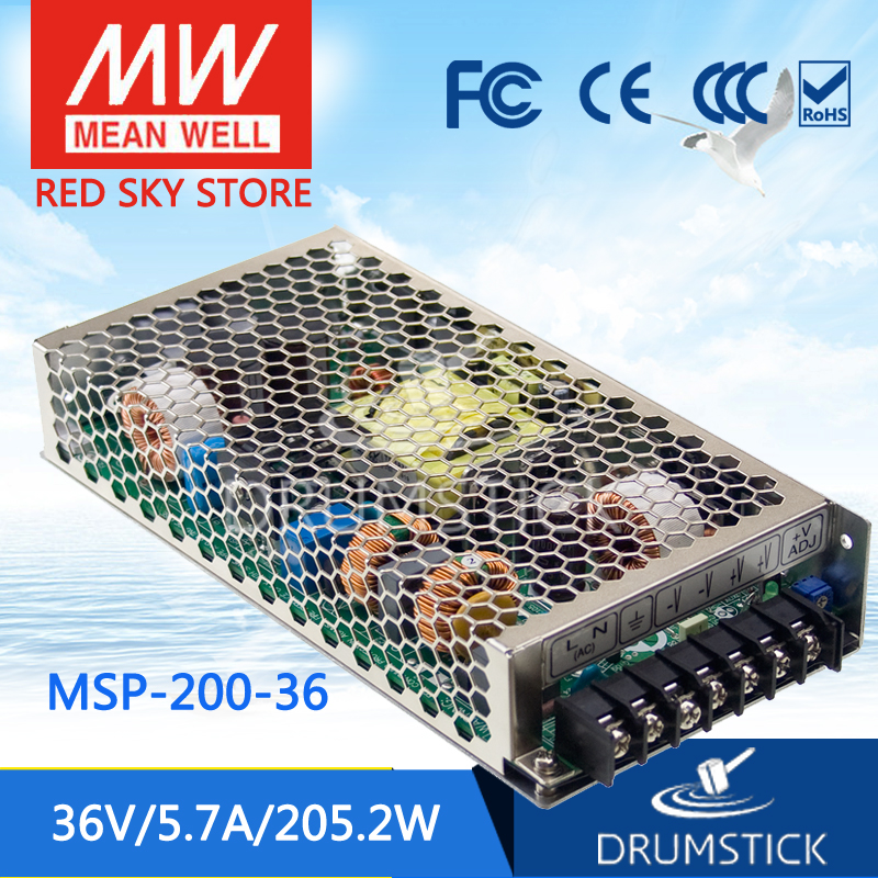 100% Original MEAN WELL MSP-200-36 36V 5.7A meanwell MSP-200 36V 205.2W Single Output Medical Type Power Supply 100% original mean well msp 100 36 36v 2 9a meanwell msp 100 36v 104 4w single output medical type power supply