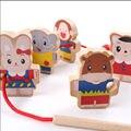 Bloques de construcción de juguetes educativos De Madera del envío libre niños ambliopía formación de la primera infancia juguetes de dibujos animados de animales