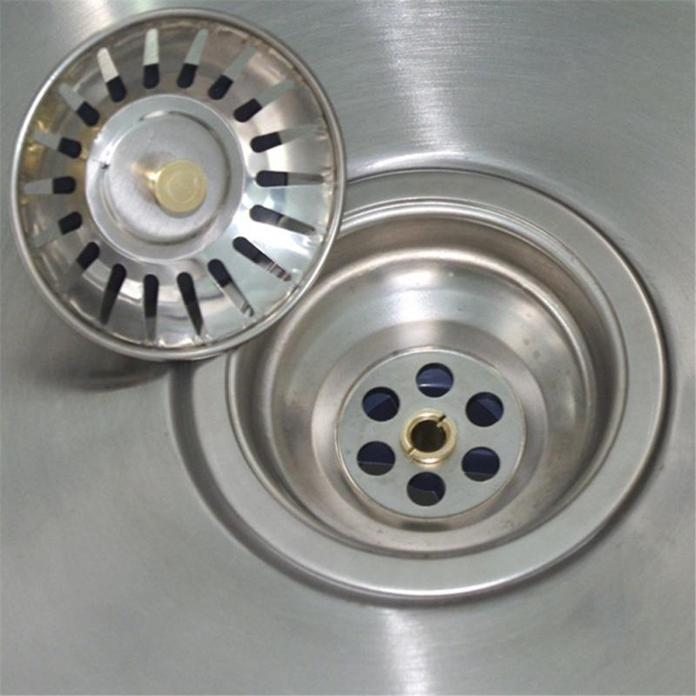 Kitchen Sink Strainer Stopper Cover Stainless Steel