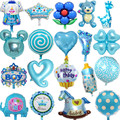 Hot Sale Angel Baby Shower Foil Balloons Baby Boy Girl Birthday Party Decorations mini bear baby foot bottle Balloon candy balls