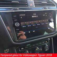 Myslc Закаленное стекло пленка для Volkswagen Tiguan экран протектор автомобиля gps Навигация DVD стерео радио-планшет коврик для чтения электронных книг