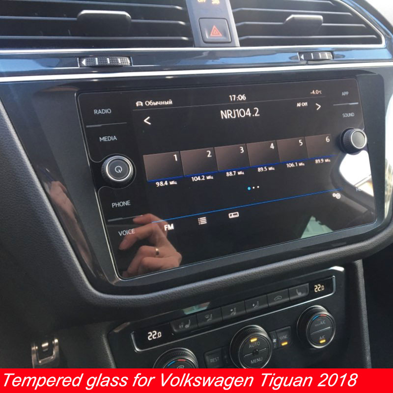 Myslc Tempered Glass Film For Volkswagen Tiguan Screen Protector Car Gps Navigation DVD Stereo Radio Tablet Pad Ebook Reader