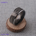 Free shipping fashion 316l stainless steel ring band with Tatoo design engraved IP Black plated CXSOR175