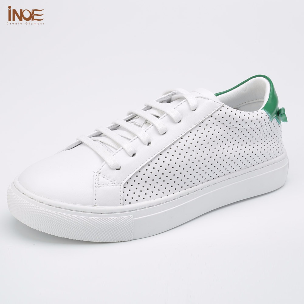 ФОТО INOE 2017 new fashion style genuine leather casual summer shoes for men high quality leisure breathable shoes flats high quality