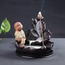 Smoke Backflow Incense Burner Holder Monk Living Room Smell Removing Tool Censer Home Decoration