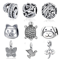 Authentic 100% 925 Sterling Silver Charms Little Turtle Crystal Animal DIY Beads Fit Pandora Bracelets & Bangle Jewelry