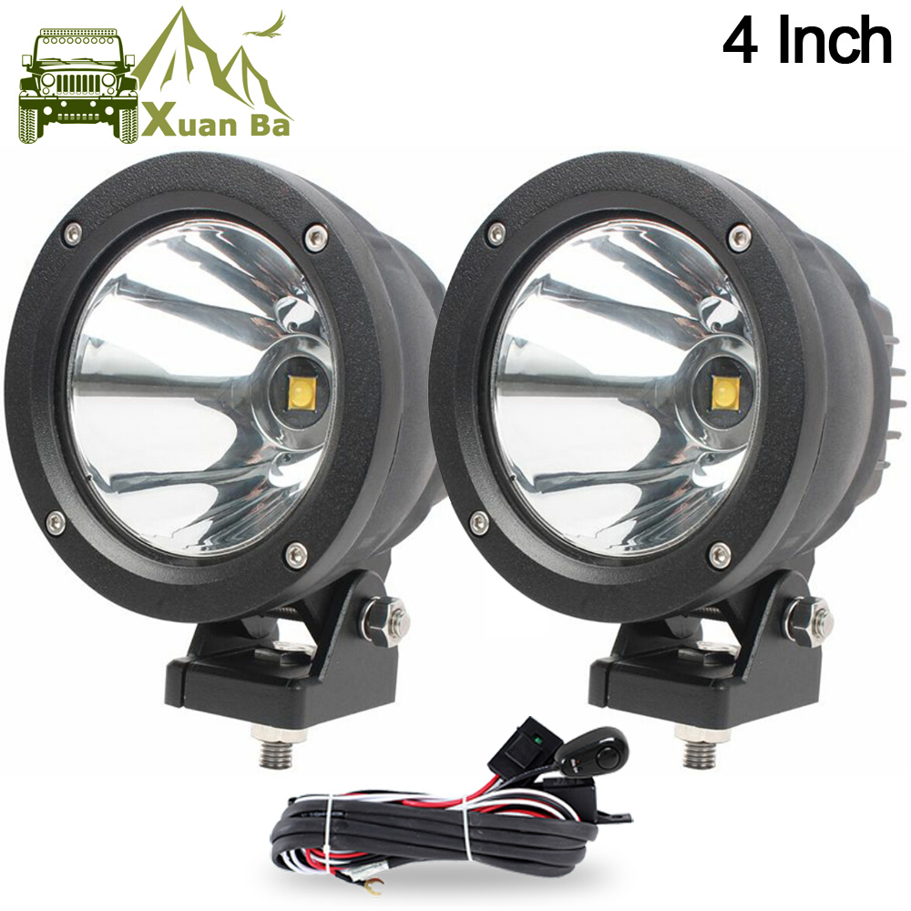 Xuanba 2pcs 4 Inch 25w Round Led Work Light For Avt