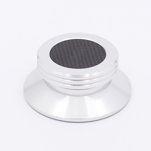 Image 1 - חדש פחמן סיבי אלומיניום סגסוגת LP ויניל פטיפונים מתכת דיסק מייצב שיא משקל/מהדק HiFi