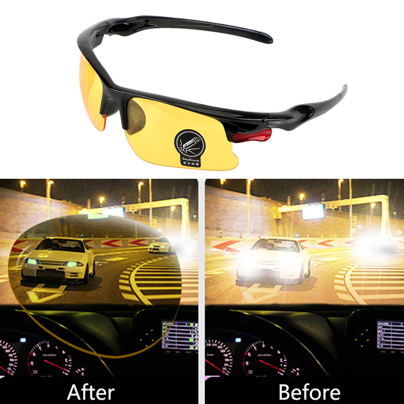 Car Driving Glasses Night Vision Glasses Protective For Ford Focus 2 1 Fiesta Mondeo 4 3 Transit Fusion Ranger <font><b>Mustang</b></font> KA S-max image