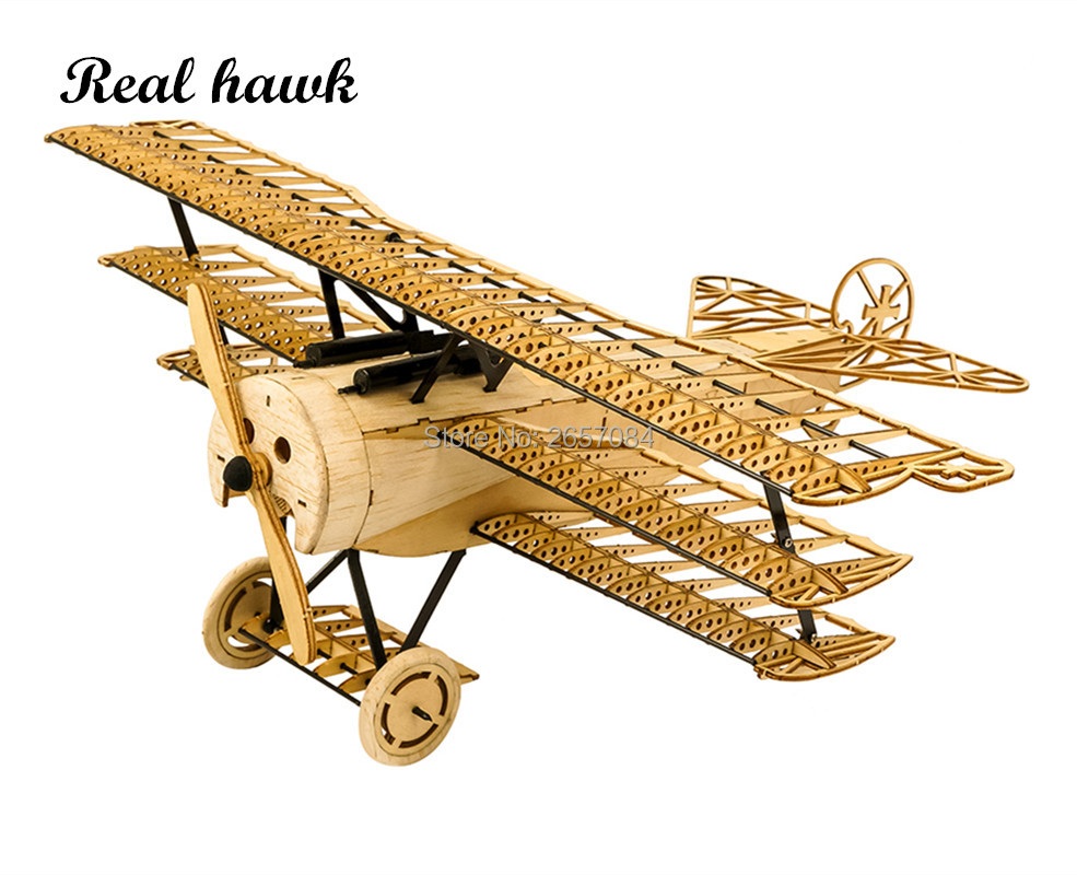 DIY Craft, Wood Building Kit,Building Toys, Christmas Gift Present,1:18 Fokker DRI Static Models X11 image