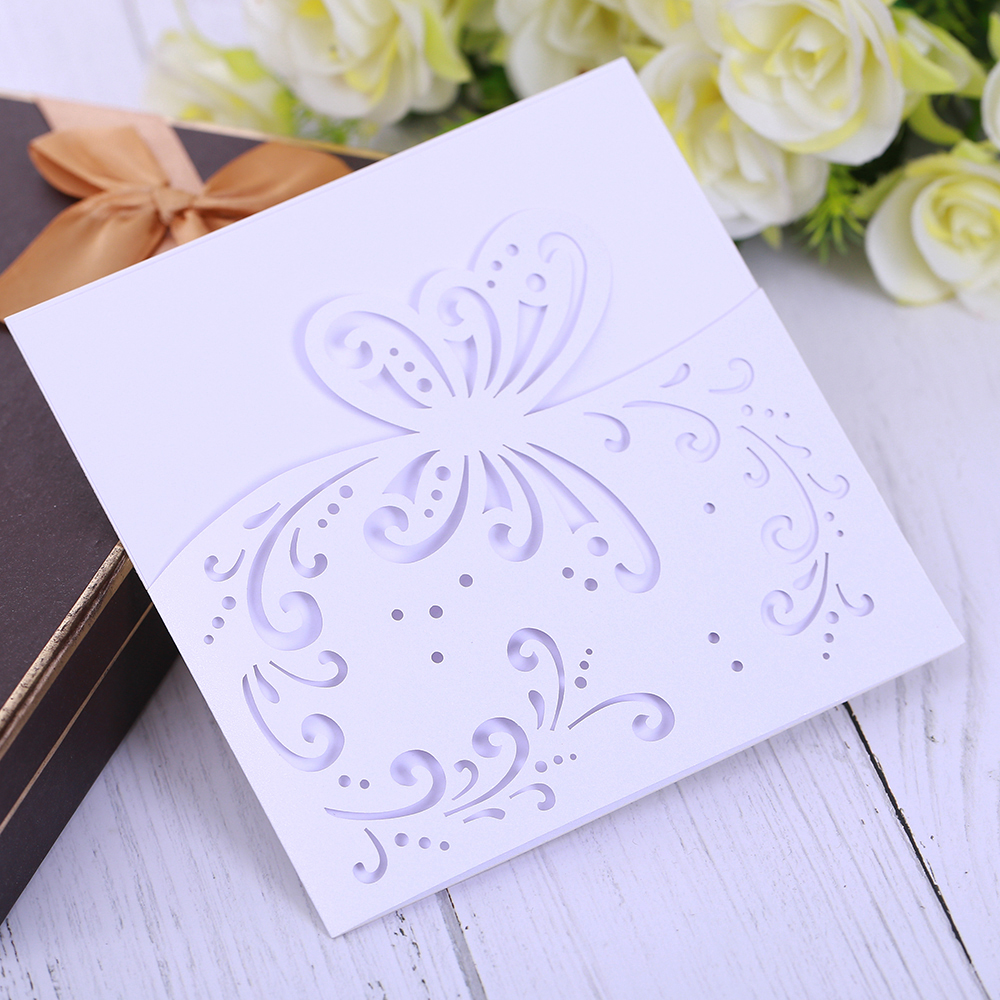 Eleva FLOWERS design laser cut wedding invitations elegant jungle ninjago party invitation card,thank you cards lot party favor