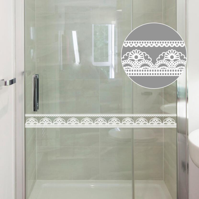 Lace Floral Wallpaper Borders Bathroom Glass Door Decor Waist Line