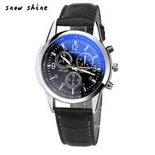 snowshine #10  Luxury Fashion Faux Leather Mens Analog Watch Watches   free shipping