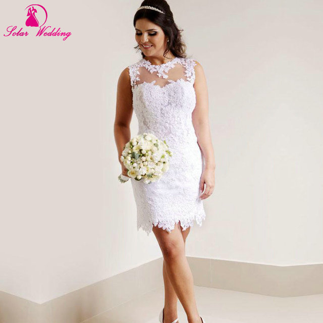 Sexy Short Wedding Dresses with Sleeves