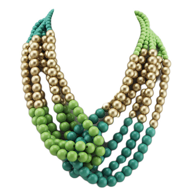 Statement Necklaces 2016 vintage female Multi-layer long big Wooden Bead Necklace Fashion Jewelry Necklaces for Women