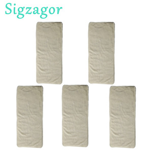 Image 1 - [Sigzagor] 2 7 세 어린이를위한 5 개의 주니어 기저귀 삽입물 유아용 요실금 재사용 가능한 천 기저귀 대나무 4 층