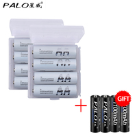 8Pcs PALO Ni MH AA NEW Batteries 2300mAh 2600mAh Rechargeable 1 2v 2A Battery With 4pcs