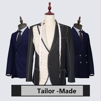 New Brand 100% Wool Retro gentleman style custom made Men's suits tailor suit Blazer suits for men 3 piece (Jacket+Pants+Vest)