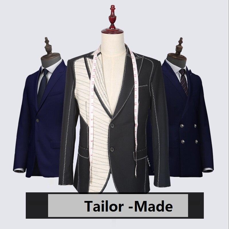Nouvelle Marque 100% Laine Rétro gentleman style custom made Hommes de costumes sur mesure costume Blazer costumes pour hommes 3 pièce (veste + Pantalon + Gilet)