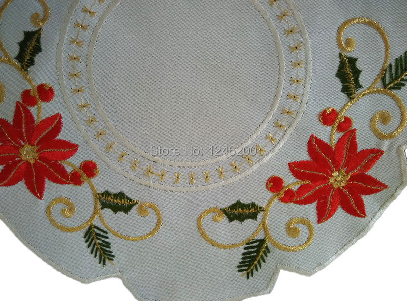 tienda online bordado navidad mantel en la tabla placemat con flores navidad para decoracin de la mesa pad taza posavasos para bebidas mantelito