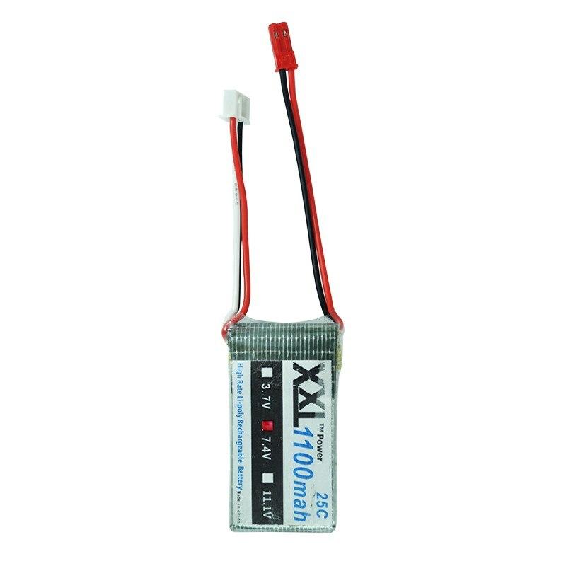 XXL 7 4V 1100mAh 25C max 50C 2s Lipo Battery for WLtoys V262 V353 V912 font