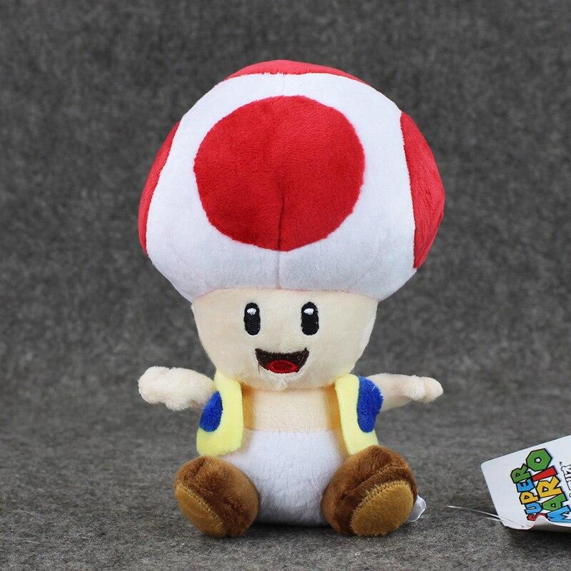17cm Super Mario pluszowe zabawki ropucha grzyb wypchana lalka zwierząt pluszowe zabawki na prezenty