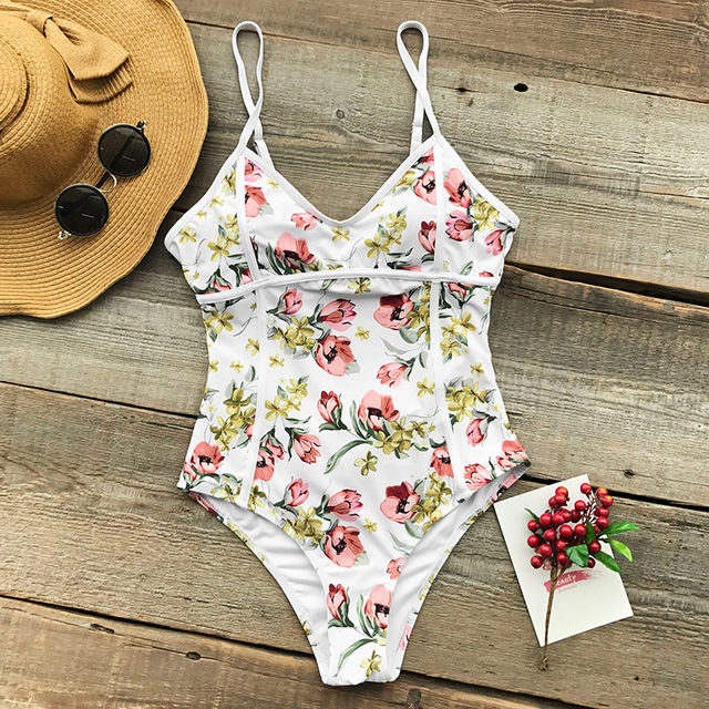 7647a3631c Online Shop CUPSHE Dancing Butterfly Print One-piece Swimsuit Floral ...