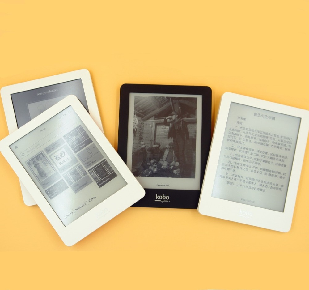 EBook eReader Kobo Glo N613 e book Touch screen e ink 6 inch 1024x768 2 GB WIFI boek reader Front backlight-in eBook Reader van Consumentenelektronica op  Groep 1