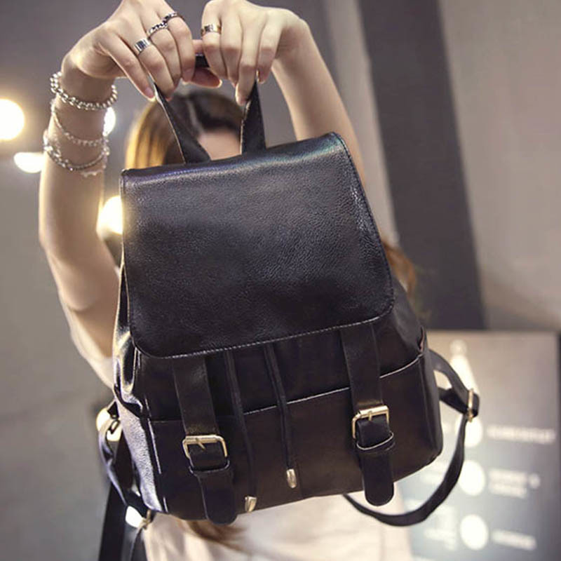 YOUNNE Women Backpack Black High Quality PU Leather Backpacks Teenager Girls Solid Satchels Female Traveling Shopping Bag 2018 цена