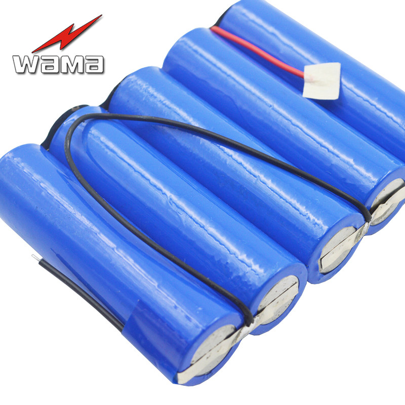 1x Wama <font><b>6000mAh</b></font> <font><b>3.7V</b></font> 18650 5-Series 5S <font><b>Li</b></font>-<font><b>ion</b></font> Lithium <font><b>Batteries</b></font> External <font><b>Rechargeable</b></font> <font><b>Battery</b></font> Packs for LED Light Power Bank image