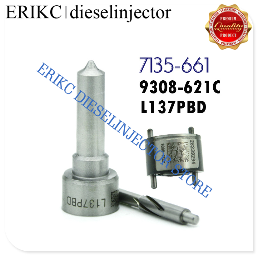 ERIKC 7135 661 Fuel Pump Repair Kit L137PBD Fog Nozzle 9308 621C Check Valve for Hyundai