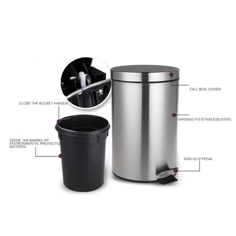 Bathroom Toilet 357l Stainless Steel Garbage Bin Mini Dustbin