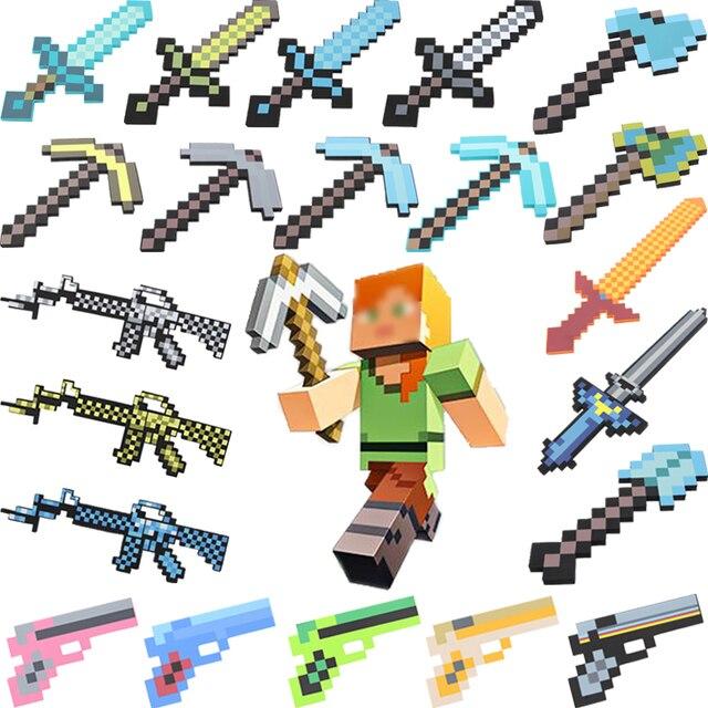 Styles Minecraft Waffe Simulation Spielzeug Pistole Schwert Pick - Minecraft spiele fur kinder