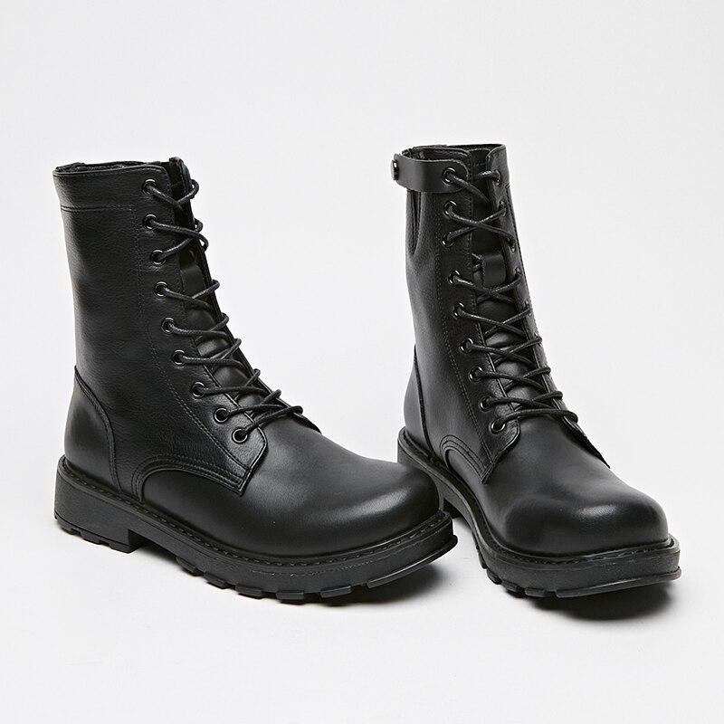 Women Boots Autumn Winter Plush Ankle Flock Slip on Low