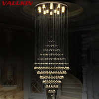 Modern LED Crystal Chandeliers Lights Lamp Chandelier Lighting Indoor Crystal Chandeliers Light For Foyer Stair Staircase