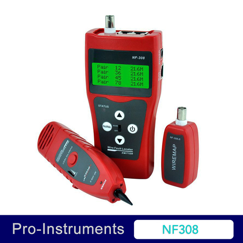 NF308 Cable Tester ADVANCED WIRE TRACKER Detector Network Telephone cable LAN Ethernet Wire tester network wire tracker nf 806b handy support trace telephone wire lan cable free shipping not include battery