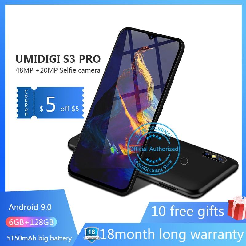 UMIDIGI S3 PRO Android 9.0 48MP + 12MP + 20MP 5150 mAh 128 GB 6 GB 6.3