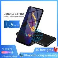 UMIDIGI S3 PRO Android 9,0 48MP + 12MP + 20MP 5150 mAh 128 GB 6 GB 6,3 NFC Глобальный Версия смартфон разблокирована 8 ядерный мобильного телефона телефон с nfc смартфон 4g во