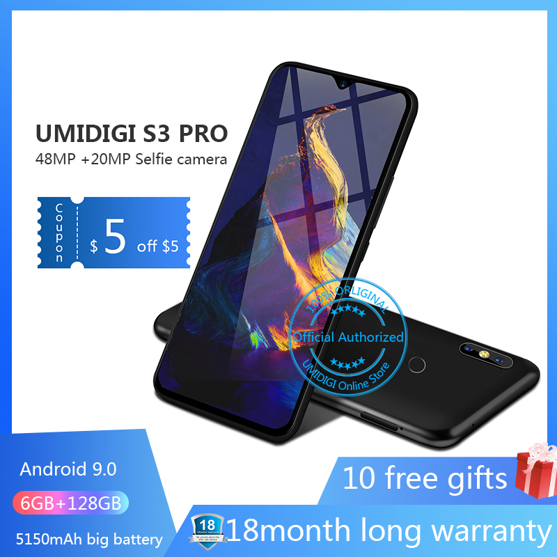 UMIDIGI S3 PRO Android 9 0 48MP 12MP 20MP 5150mAh 128GB 6GB 6 3 NFC Global