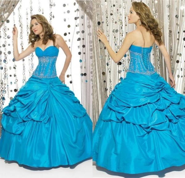 Aliexpress.com : Buy 2015 New Stylish Pleat Appliques Ball Gown ...